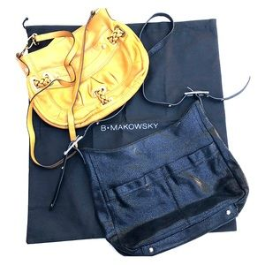 B. MAKOWSKY Lot of 2 Crossbody Bags